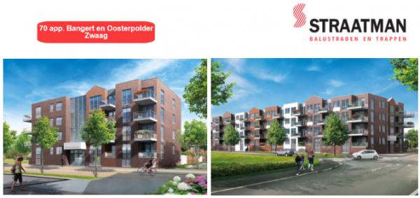 70 appartementen Bangert en Oosterpolder te Zwaag