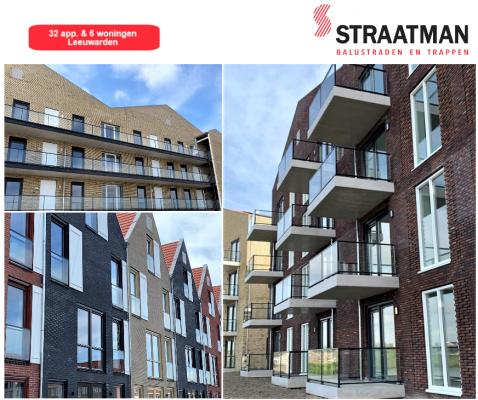 Afgerond project: 32 appartementen & 6 woningen Wiarda te Leeuwarden