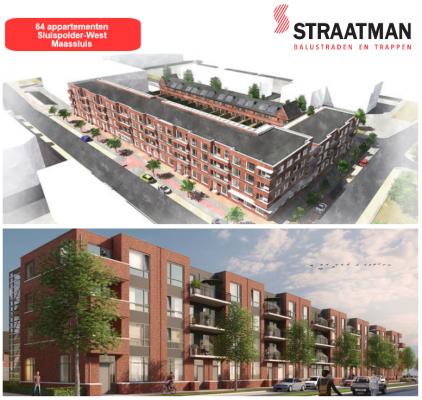 64 appartementen Sluispolder-West te Maassluis