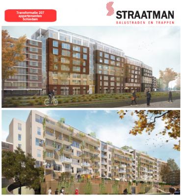 Transformatie 207 appartementen te Schiedam